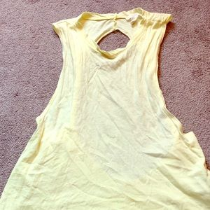 Yellow Back-less Muscle Tee